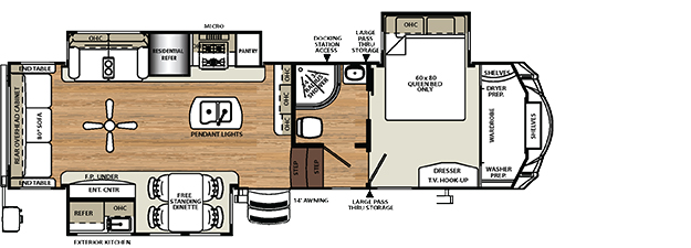 Forest River Sierra Floorplans New Used Fifth Wheels United - Forest river 5th wheel floor plans