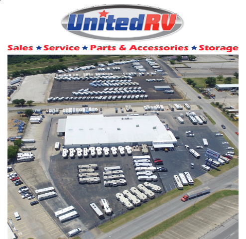 United RV Center Lot and Logo