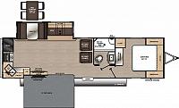 2019 COACHMEN CATALINA LEGACY EDITION 303RKP - FRONT PATIO DECK!