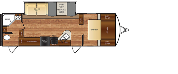 Wildcat TT 251RBQ Floorplan