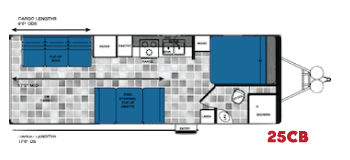 25CB toy hauler forest river floorplan
