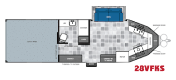 28VFKS work and play v nose floorplan