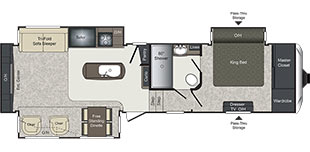Laredo FW 312RE Floorplan