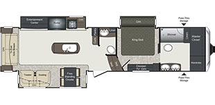 Laredo FW 350FB Floorplan