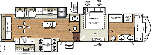 Sierra 378 FB Floorplan