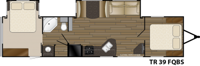 Trail Runner 39FQBS floorplan